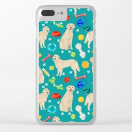 Golden Retriever pet friendly dog breeds dog toys cute dog gifts for dog lovers Clear iPhone Case