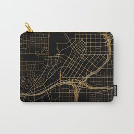 Black and gold Atlanta map Carry-All Pouch