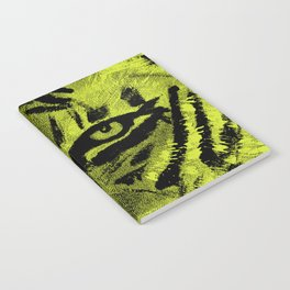 Tiger Eyes - Lime Notebook