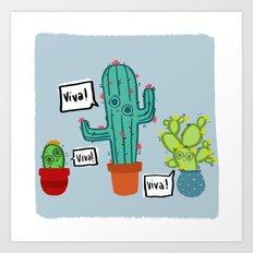 Viva Cactus Art Print