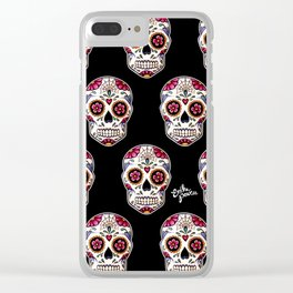 Sugar Skull - black Clear iPhone Case