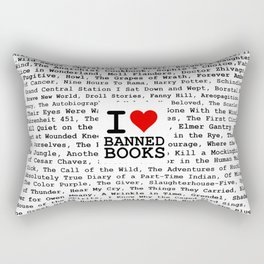 I Heart Banned Books Rectangular Pillow