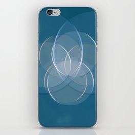Blue Yoga Lotus iPhone Skin