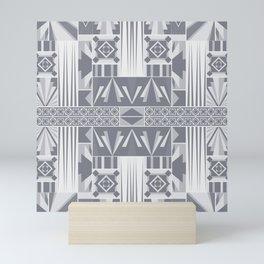 Art Deco Abstract Soft Grey Mini Art Print