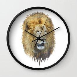 lion head watercolor Wall Clock