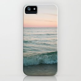 Crashing Waves At Dusk iPhone Case