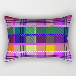 Multicolor tartan Rectangular Pillow