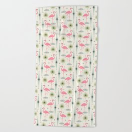 Atomic Oasis - Vertical Beach Towel