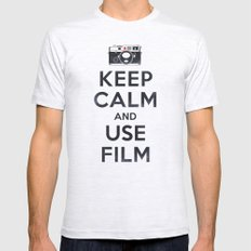 Keep Calm And Use Film Ash Grey Mens Fitted Tee SMALL