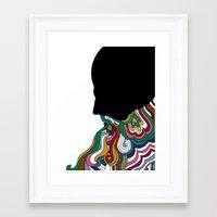beard Framed Art Prints featuring Beard by Paco de Nadie