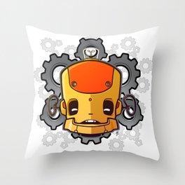 Brass Munki - Bot015 Throw Pillow