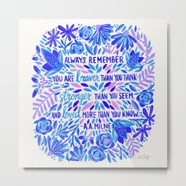 Always Remember – Indigo Palette Metal Print