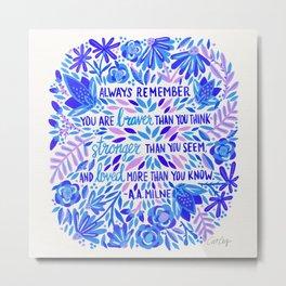 Always Remember – Indigo Palette Metal Print