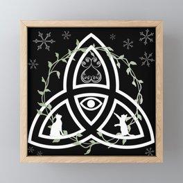 Celtic Knot, Evil Eye, and Cats Framed Mini Art Print