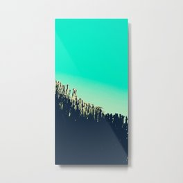 Cactus to the sky photography cacti turquoise sky Metal Print