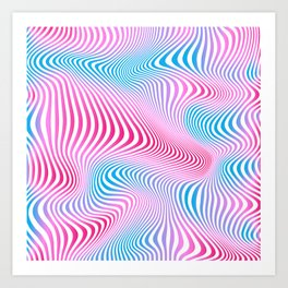 DISTORTION COLD Art Print