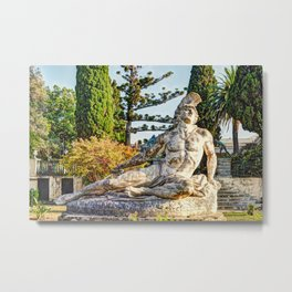 The Achilleion Palace in the Village Gastouri of Corfu Metal Print