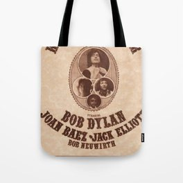 Very Rare Vintage 1975 Bob Dylan and Rolling Thunder Review Flyer - Poster Providence, Rhode Island Tote Bag