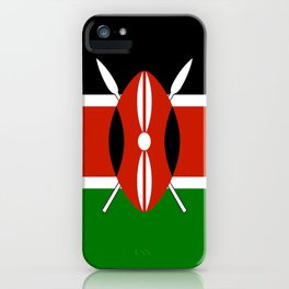 National flag of Kenya - Authentic version, to scale and color iPhone Case