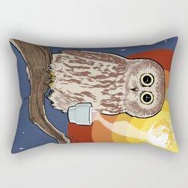 Coffee Owl Rectangular Pillow