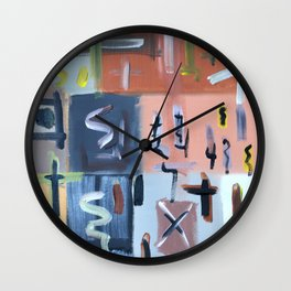 Colourful Chaos II Wall Clock