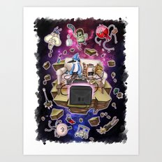 Regular Show lost in Universe Art Print