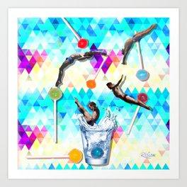 Summertime Splash Art Print