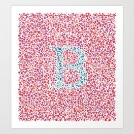 """""""B"""" Eye Test Full Art Print"""