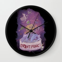 DONT'T PANIC! Wall Clock