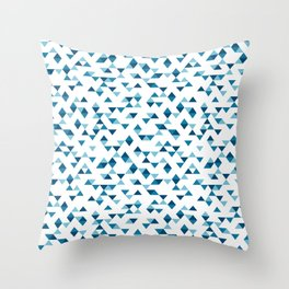 Triangles Blue Repeat Throw Pillow