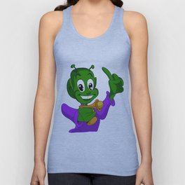 Smiling Alien Unisex Tank Top