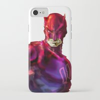 daredevil iPhone & iPod Cases featuring DAREDEVIL by peocle