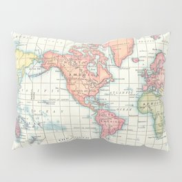 World Map - Colorful Continents Pillow Sham