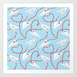 airlines of love Art Print