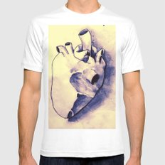 corazónS White MEDIUM Mens Fitted Tee