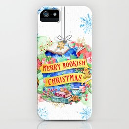 Merry Bookish Christmas iPhone Case