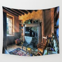 country Wall Tapestries featuring Country Cottage by Ian Mitchell