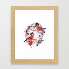 Bullfinches Framed Art Print