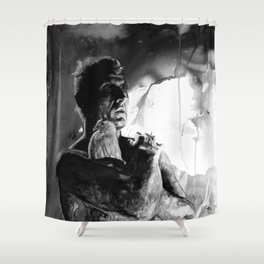 Like tears in rain - black - quote Shower Curtain