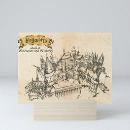Potter school of witchcraft and wizardry HP sketch Mini Art Print