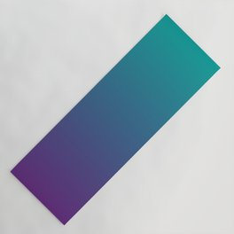 Ombre   Teal and Purple Yoga Mat