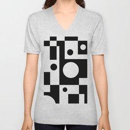 Black & White Abstract II Unisex V-Neck