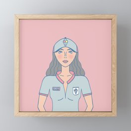 Ice Cream Gal Framed Mini Art Print