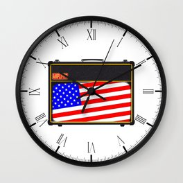 USA Rock Amplifier Wall Clock