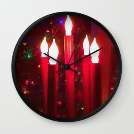 Christmas Tree With Candelabra Wall Clock