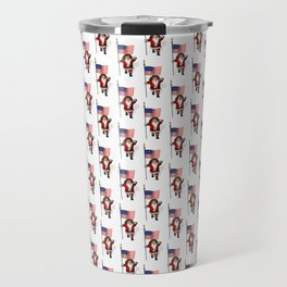 Santa Claus With Star-Spangled Banner Travel Mug