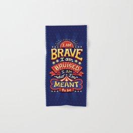 I Am Brave Hand & Bath Towel