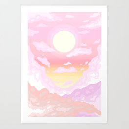 Pink light Art Print