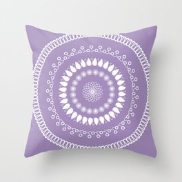 Round lilac pattern Throw Pillow