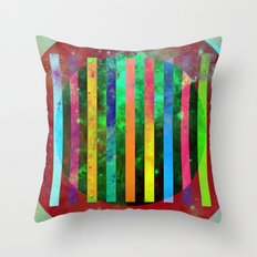 Galactic Stripes - Abstract, geometric, space themed artwork Throw Pillow
